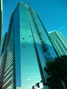 Building in Downtown Miami Under Construction